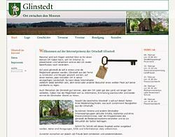 Layoutansicht der Website www.glinstedt.de